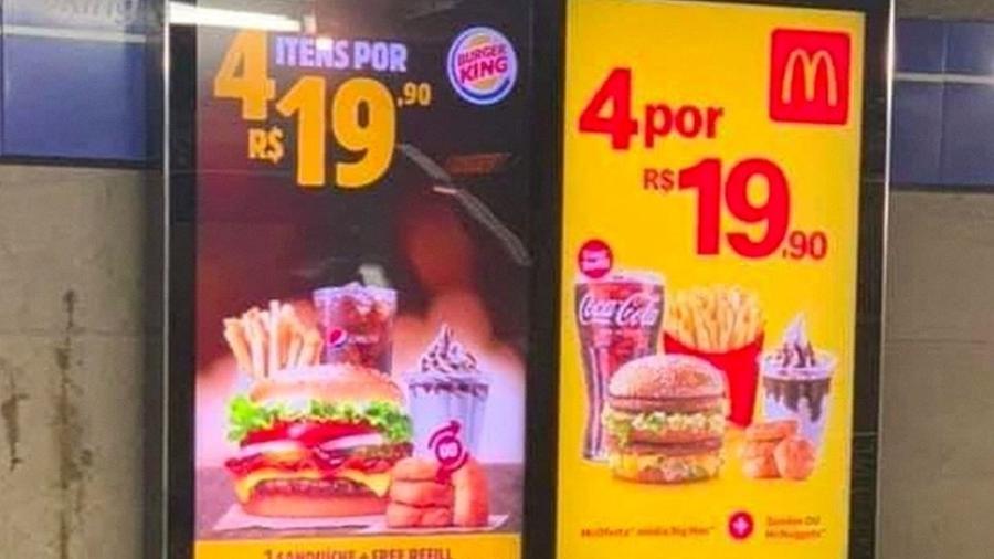 """Burger King e MxDonald""""s têm histórico de provocações; veja rivalidades bilionárias - Reprodução"""