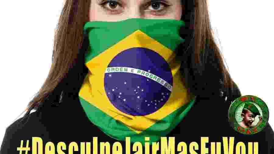 Imagem com a hashtag #DesculpaJairMasEuVou, que circula no WhatsApp e nas redes sociais - Reprodução