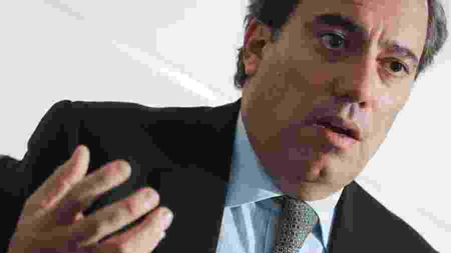 Pedro Guimarães, presidente da CEF: numa reunião ministerial, ele falou de suas 15 armas e de sair para matar ou morrer. Forte emoção! - Foto: André Coelho/Valor