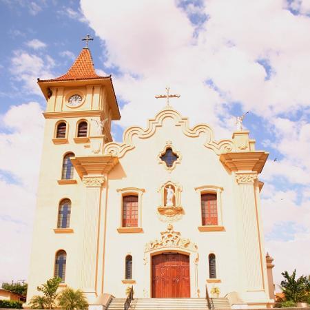 Igreja Matriz São João Batista, em Mirandópolis (SP), onde ocorrerá o júri - Reprodução/Facebook/São João Batista