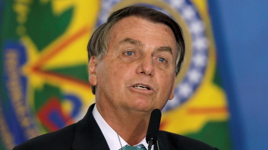 1º.jun.2021 - O presidente Jair Bolsonaro (sem partido), durante evento em Brasília (DF) - Ueslei Marcelino/Reuters