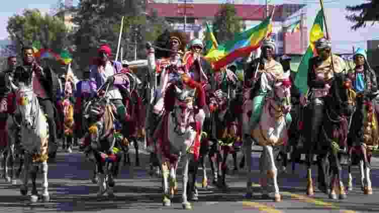 Desfile para comemorar a Batalha de Adwa - Getty Images - Getty Images