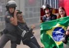 Arte UOL/Fotos Nelson Almeida/AFP e Divulgação/PM-SP