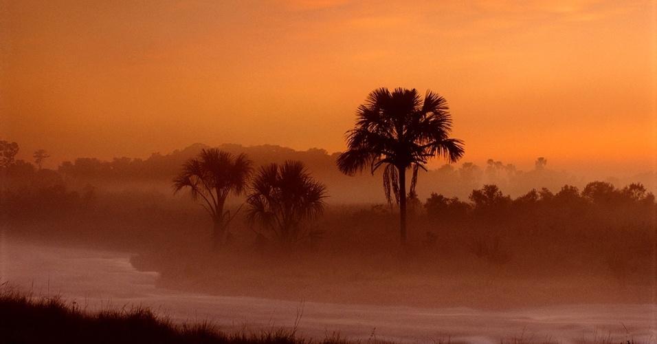 22.jun.2016 - Vista da savana ao entardecer no Parque Nacional das Emas, em Goiás. O local, patrimônio da humanidade pela Unesco, abriga um dos ecossistemas mais antigos e com enorme biodiversidade