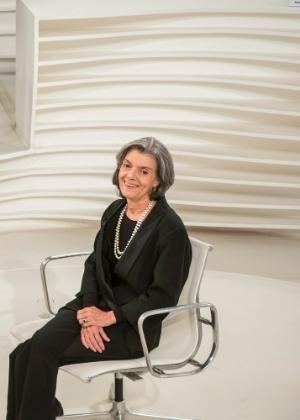 A presidente do STF (Supremo Tribunal Federal), Cármen Lúcia, durante entrevista ao programa Roda Viva, da TV Cultura