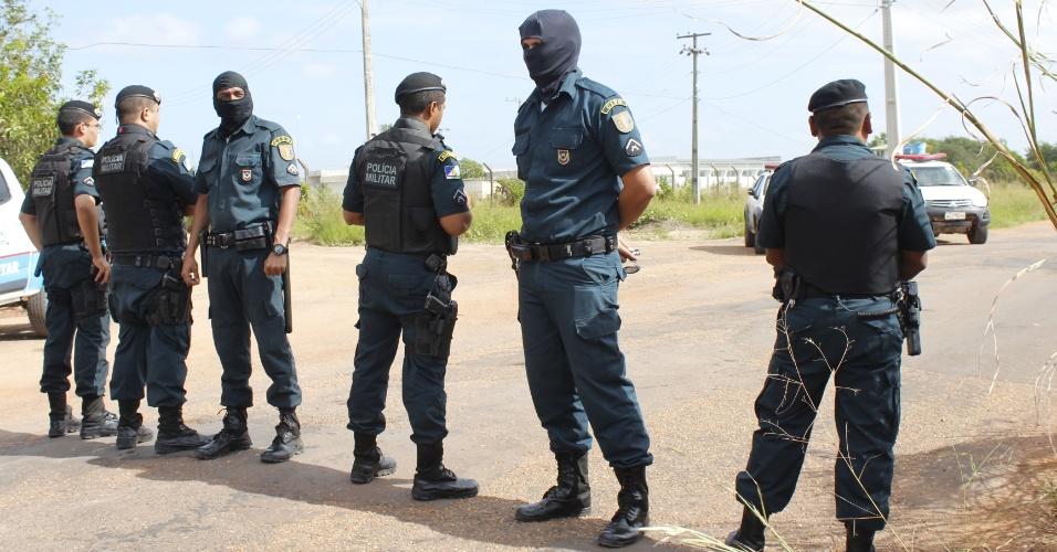 Policiais isolam PAMC (Penitenciária Agrícola de Monte Cristo), em Boa Vista (RR)