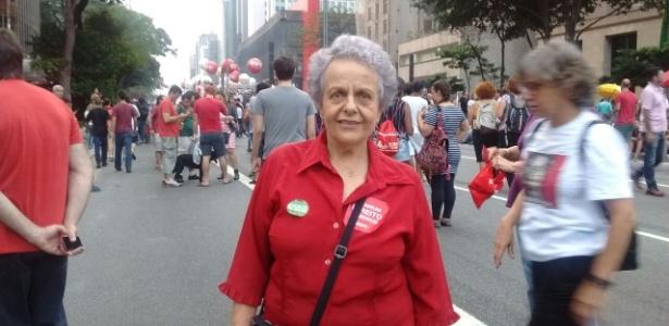 Ex-ministra de Dilma participa de protesto na avenida Paulista - Daniela Garcia/UOL