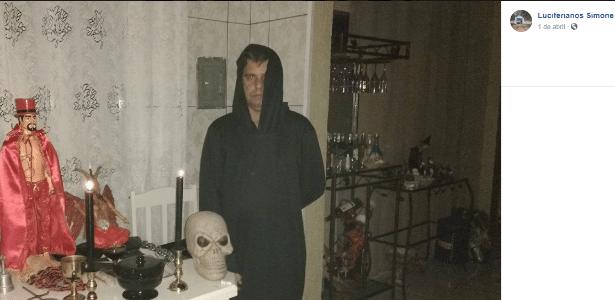 Sérgio Mota (foto) e Simone Melo, sua mulher, são suspeitos pela morte da jovem Atyla Barbosa; em perfil em uma rede social, casal divulgava rituais satânistas - Reprodução/Facebook