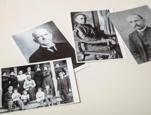 Fotografias dos tataravós de Paula Wright, um casal inter-racial - Tony Cenicola/The New York Times