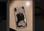 iPhone X explosivo? Usuário afirma que celular pegou fogo (Foto: @rocky_mohamad)