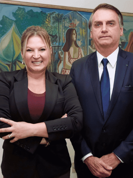 Joice Hasselmann (PSL-SP), deputada federal eleita, e o presidente Jair Bolsonaro - Reprodução/Twitters