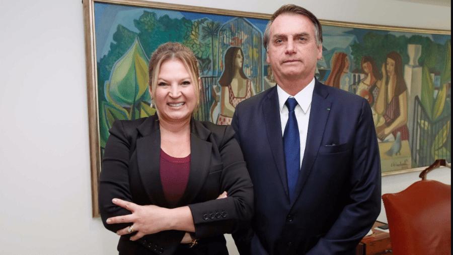 A deputada federal Joice Hasselmann (PSL-SP) e o presidente Jair Bolsonaro (sem partido) - Reprodução/Twitters
