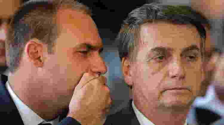 """Eduardo é o terceiro filho de Jair Bolsonaro, que ele chama de """"zero três"""" - Getty Images"""