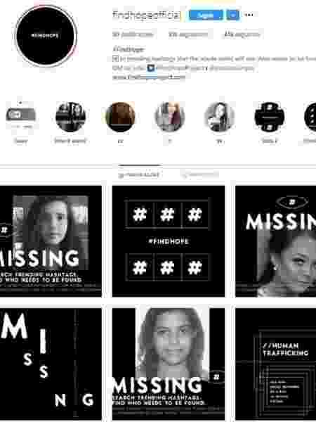 Instituto Impar criou o projeto #FindHope para encontrar pessoas desaparecidas - Reprodução/Instagram