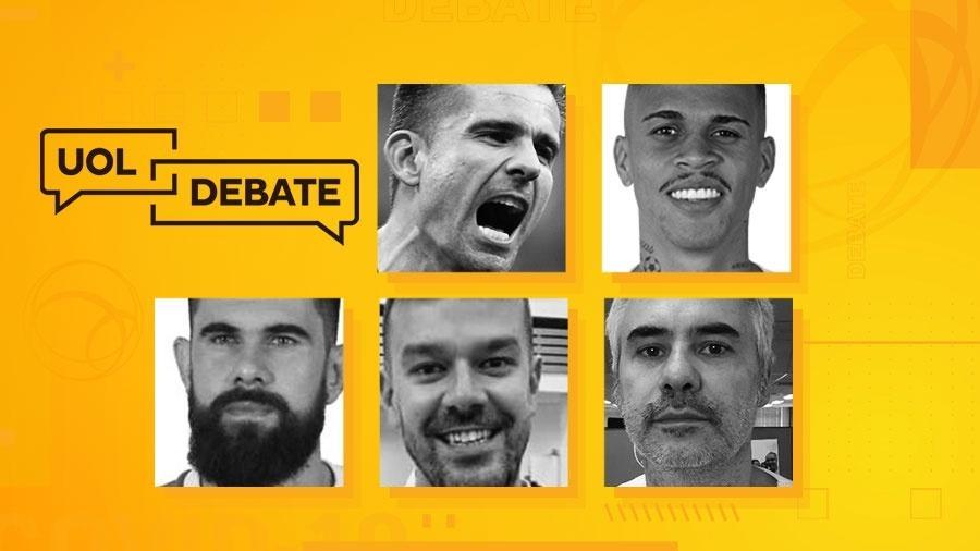 Jogadores Victor, Richard e Fernando Miguel participam do UOL Debate desta sexta (15/05/20) - Arte/UOL