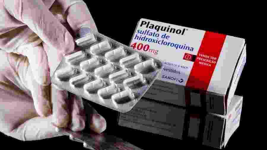 Comprimidos de Plaquinol (hidroxicloroquina); medicamento é alvo de controvérsias em tratamentos de covid-19 - Buda Mendes/Getty Images