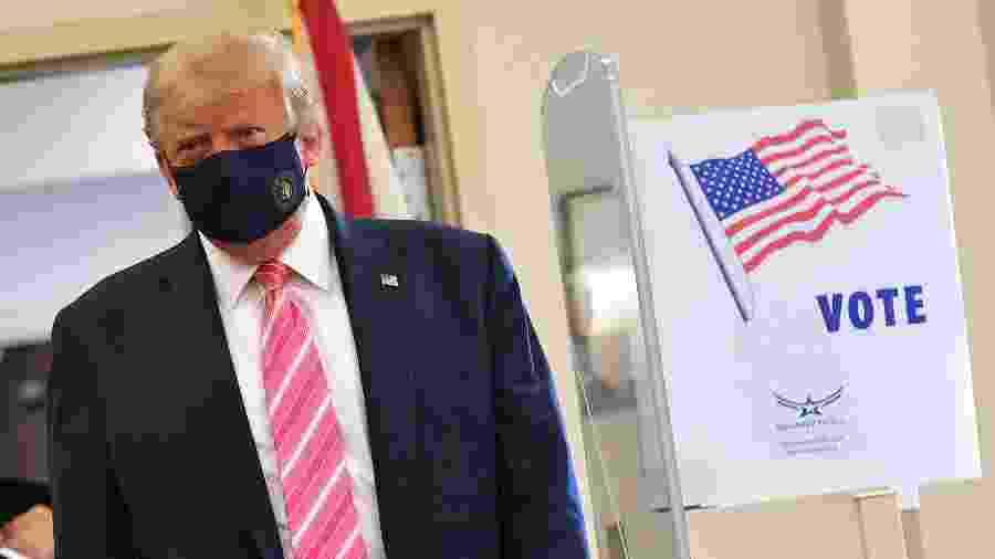 Trump diz que manterá política migratória em relação ao México - MANDEL NGAN / AFP