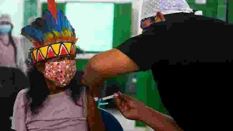 Vacinação de indígenas da aldeia Umuriaçu, próximo a Tabatinga, Amazonas - Marcelo Camargo/Agência Brasil - Marcelo Camargo/Agência Brasil