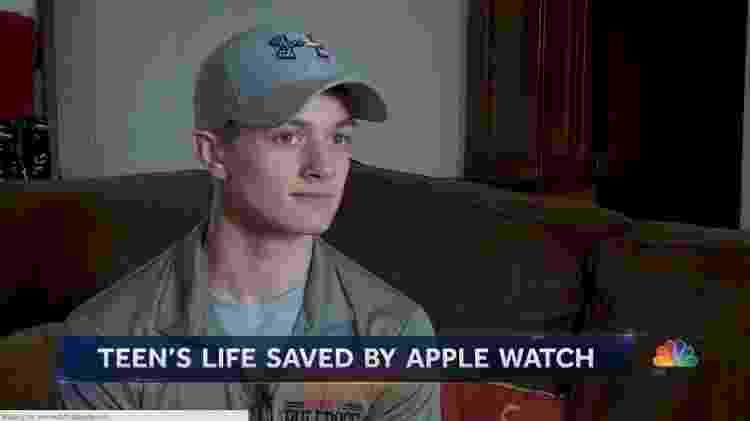 Skylar Joslin, 13, teve ataque cardíaco detectado por Apple Watch - Reprodução/NBC News - Reprodução/NBC News