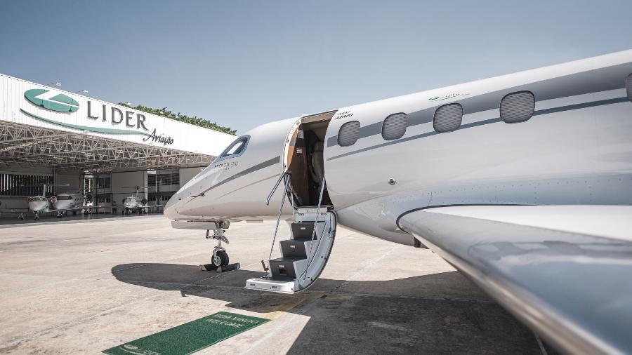 Phenom 300, jato da Embraer, da Líder Aviação - Divulgação