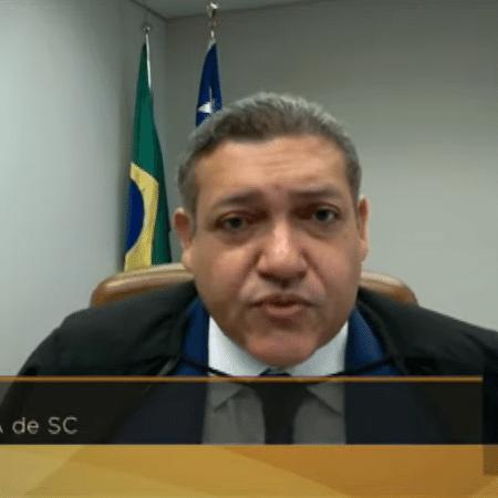 Ministro Kassio Nunes Marques no julgamento do marco temporal das terras indígenas - Reprodução/TV Justiça