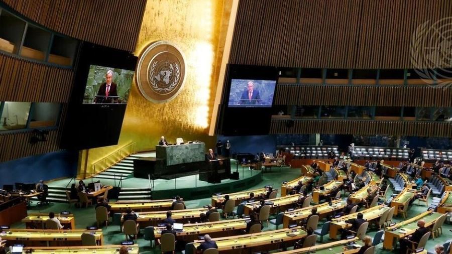 Assembleia Geral da ONU na sede da entidade, em Nova York - ONU/Evan Schneider