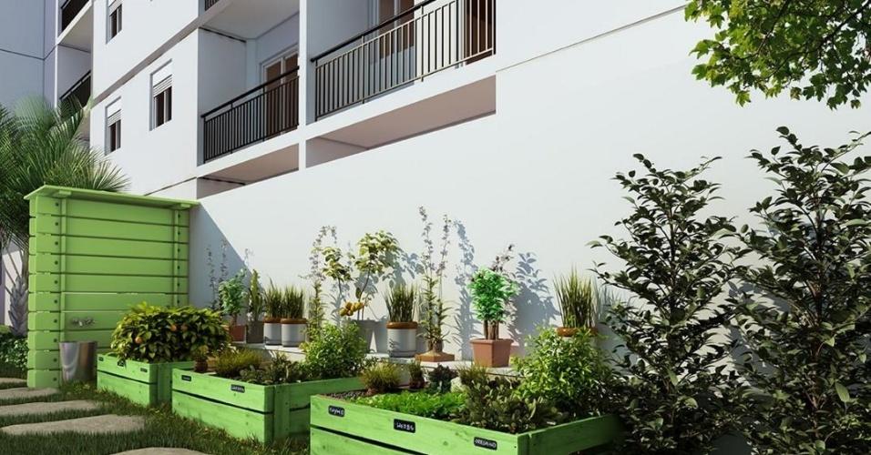 Moradores terão acesso a uma horta