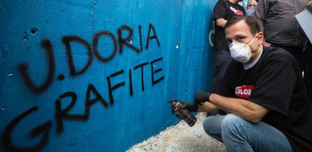 Doria, participou na manhã deste domingo (28) da inauguração da primeira etapa do Museu de Arte de Rua na zona norte da capital paulista