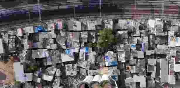Vista da Favela do Moinho, centro de São Paulo, que faz divisa com os trilhos da CPTM - Joel Silva/Folhapress