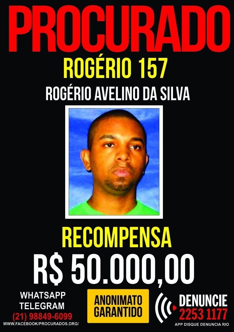 23.set.2017 - Disque-denúncia aumentou recompensa para quem der informações sobre o traficante Rogério 157 para R$ 50 mil