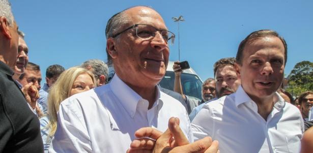 12.nov,2017 - Alckmin e Doria chegam para a convenção estadual do PSDB, em SP