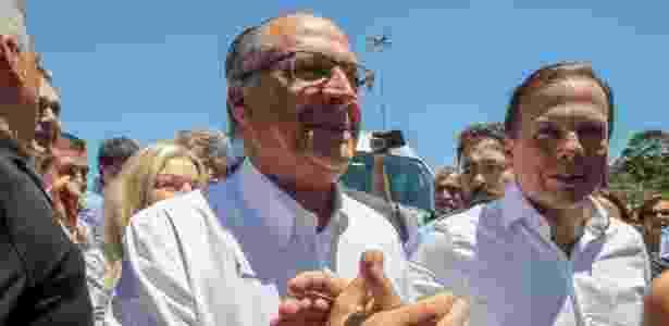 12.nov,2017 - Alckmin e Doria chegam para a convenção estadual do PSDB, em SP - Amanda Perobelli/Estadão Conteúdo