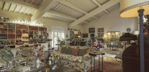 Sala da residência onde morou a irmã de Napoleão - Reprodução/ Sotheby's International Realty - Reprodução/ Sotheby's International Realty