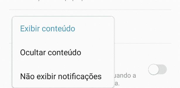 Aprenda a ocultar o conteúdo da notificação na tela de bloqueio do Android 2 - Reprodução - Reprodução