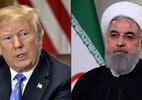 Montagem com AFP Photo e Presidência do Irã