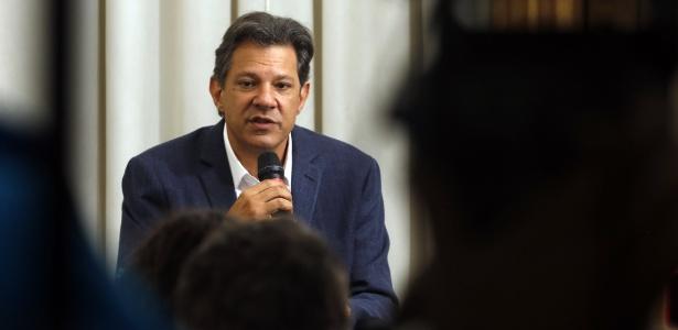 O candidato à Presidência Fernando Haddad (PT)