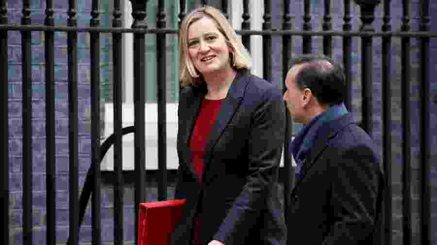 A ex-ministra do Trabalho e Previdência, Amber Rudd  - Tolga AKMEN / AFP