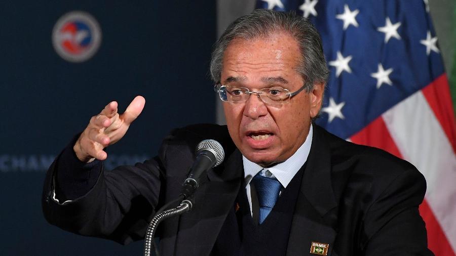 Paulo Guedes discursa em Washington (EUA) - Mandel Ngan/AFP