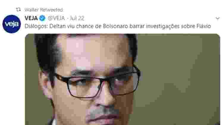 Tweet de Walter Delgatti - Reprodução/Twitter - Reprodução/Twitter