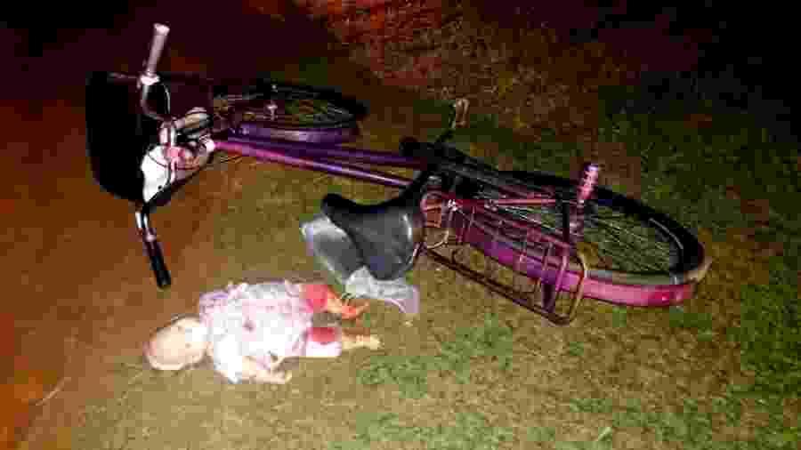Mãe e filha são atingidas por avião em pista de Guararapes (SP) - Divulgação/PM