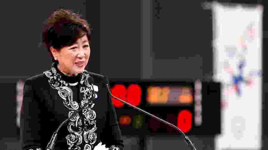 A governadora de Tóquio, Yuriko Koike - Reprodução