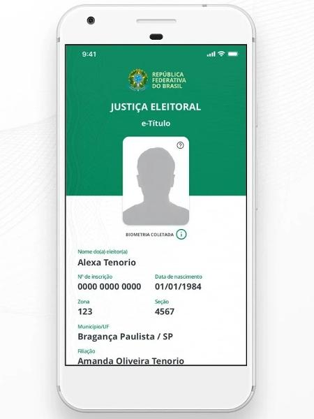 App e-Título ajuda eleitores a justificar voto - Reprodução