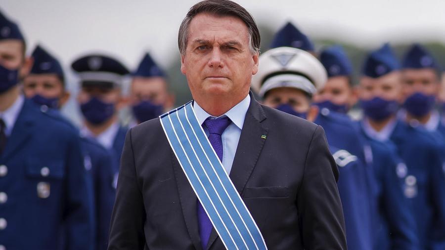 O presidente Jair Bolsonaro participa de cerimônia do Dia do Aviador, em Brasília - CLÁUDIO MARQUES/FUTURA PRESS/FUTURA PRESS/ESTADÃO CONTEÚDO