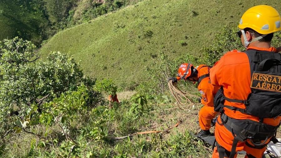 28 bombeiros participaram do resgate do corpo do jovem - Divulgação/Corpo de Bombeiros do Distrito Federal