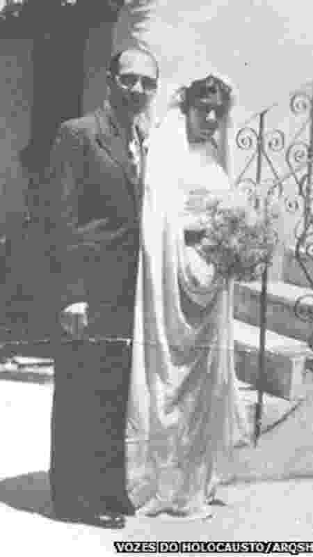 Casamento de Sara Leah e Isaac Menache, 1938 - Vozes do Holocausto/Arqshoah - Vozes do Holocausto/Arqshoah