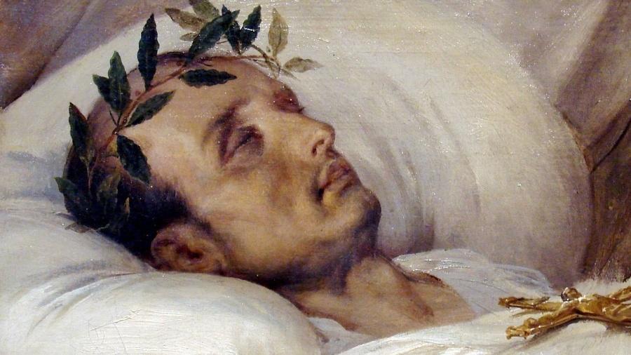 Pintura de Napoleão morto, por Horace Vernet (1826) - Domínio Público