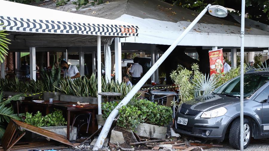 Local onde três idosos foram atropelados na Avenida Atlântica, em Copacabana, no Rio de Janeiro, no domingo (16) - ANDRE MELO ANDRADE/ESTADÃO CONTEÚDO
