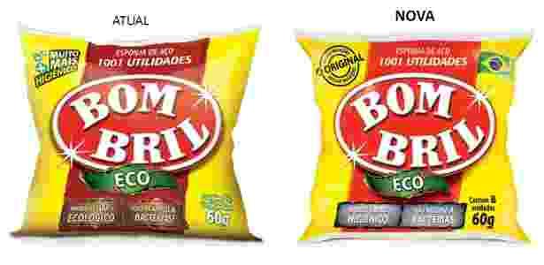 Nova embalagem do Bombril começa a ser produzida na segunda quinzena desde mês - Divulgação