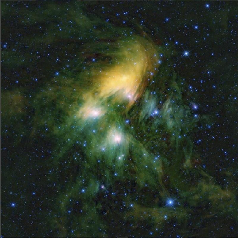15.ago.2016 - BALÉ ESTELAR - Como bailarinos cósmicos, as estrelas do aglomerado das Plêiades estão girando. Mas esses dançarinos celestes estão todos girando em velocidades diferentes. O telescópio espacial Kepler, da Nasa, durante a sua missão K2, ajudou a acumular o mais completo catálogo de períodos de rotação de estrelas em um aglomerado. Esta informação pode ajudar os astrônomos a ter uma visão sobre onde e como os planetas se formam em torno dessas estrelas, e como tais elas evoluem