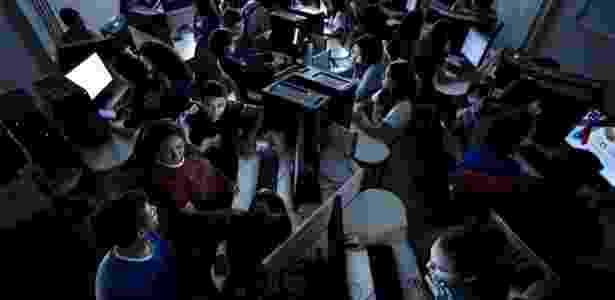 Laboratório de programação e multimídia da escola - Heudes Regis/BBC  - Heudes Regis/BBC
